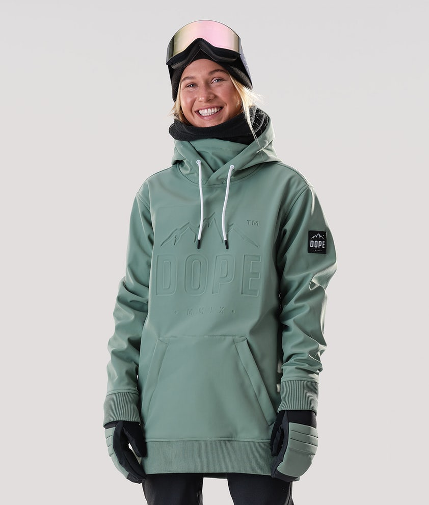 Dope Yeti EMB Snowboardjakke Faded Green