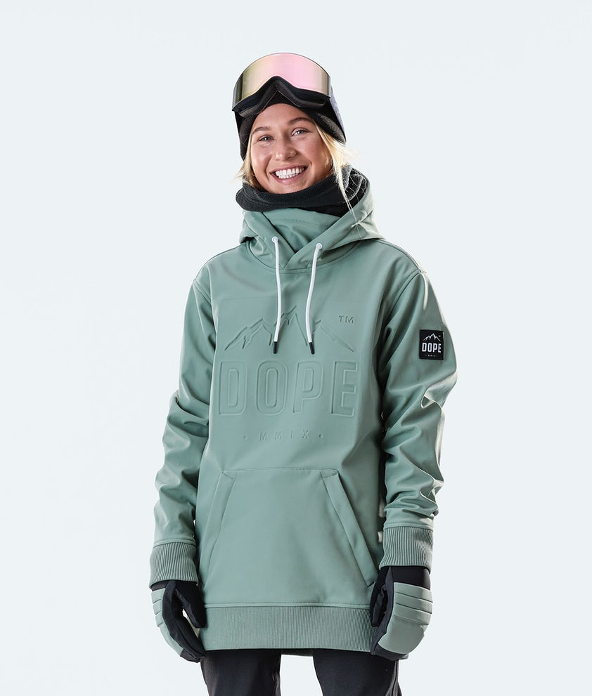 Dope Yeti EMB Snowboard Jacket Faded Green