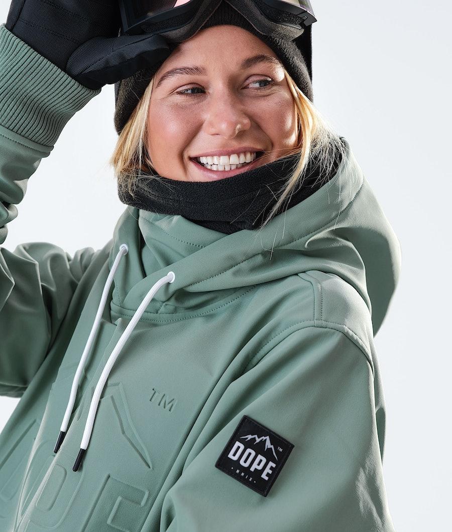 Dope Yeti EMB Women's Snowboard Jacket Faded Green
