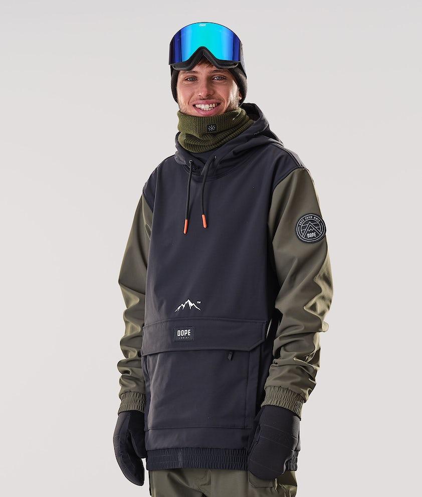 Dope Wylie Patch Snowboardjacka Black/Olive Green