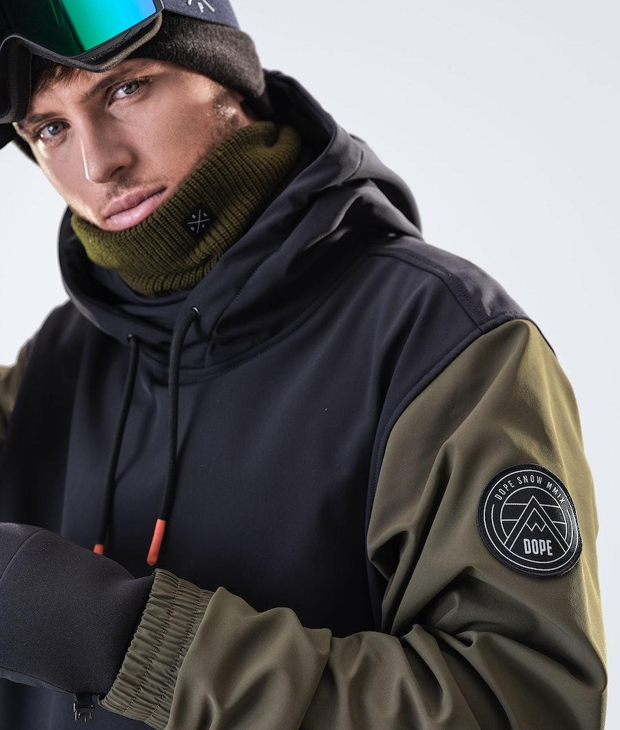 Dope Wylie Patch Snowboardjakke Black/Olive Green