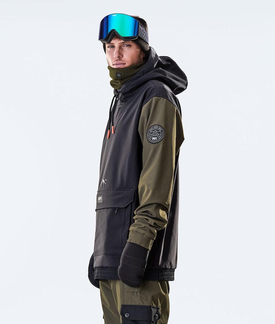 Dope Wylie Patch Veste de Ski Black/Olive Green