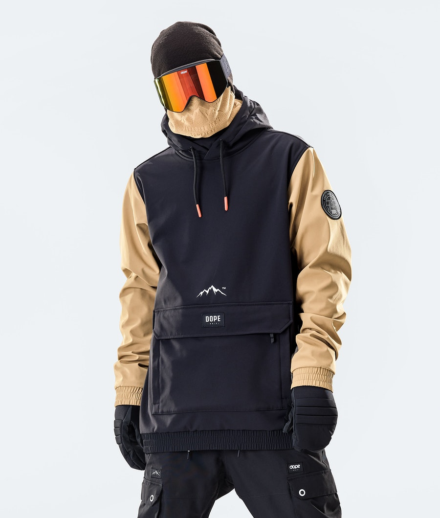 Dope Wylie Patch Ski Jacket Black/Gold