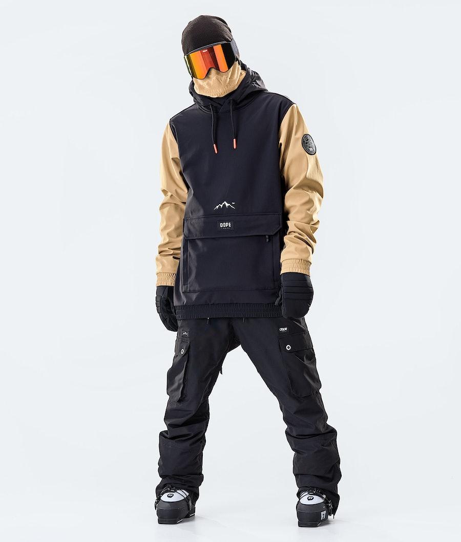 Dope Wylie Patch Skijakke Black/Gold