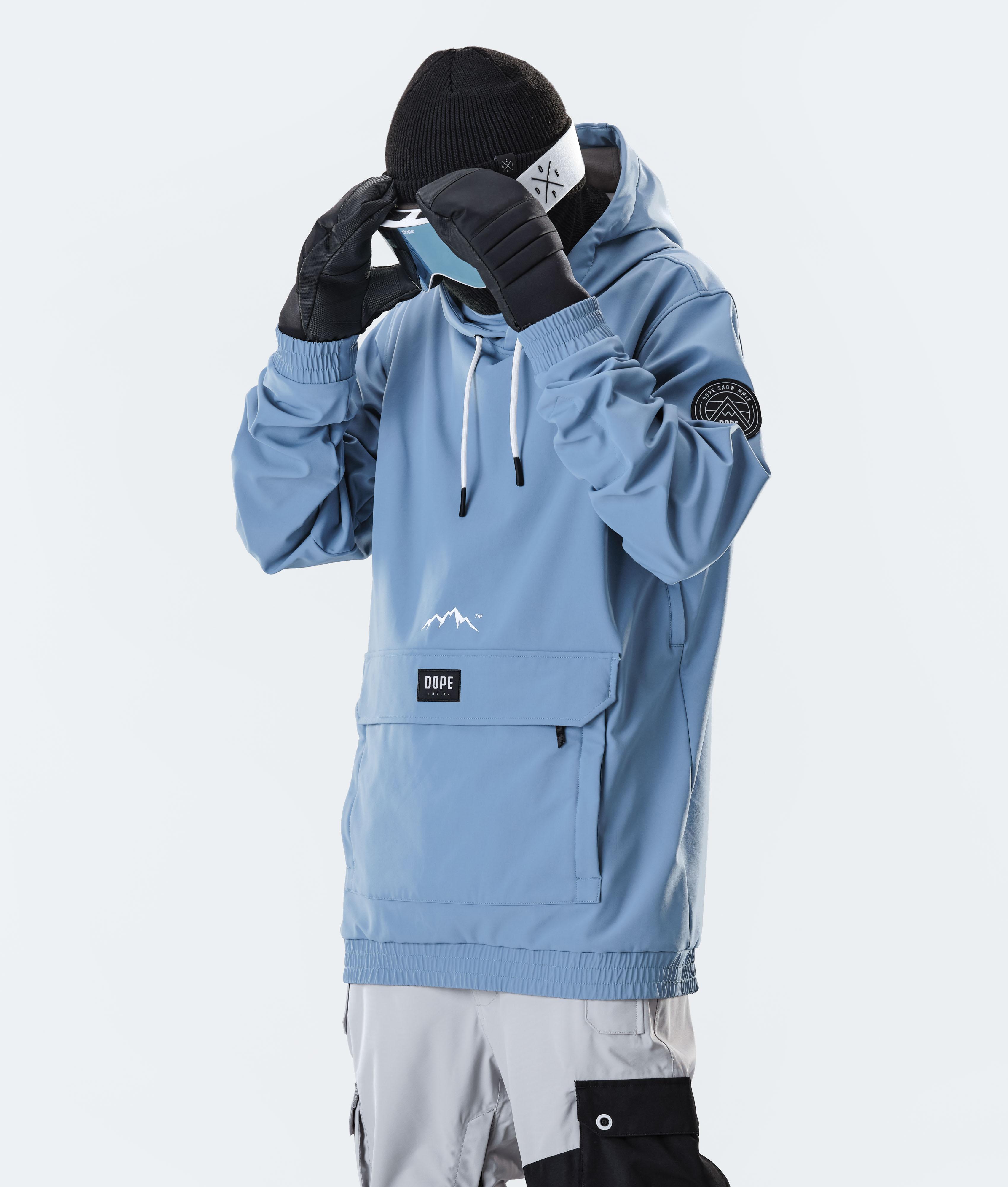 Dope Wylie Patch Ski Jacket Blue Steel