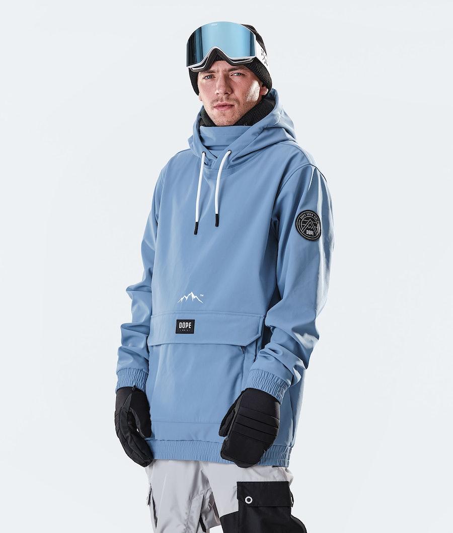 Dope Wylie Patch Skijakke Blue Steel