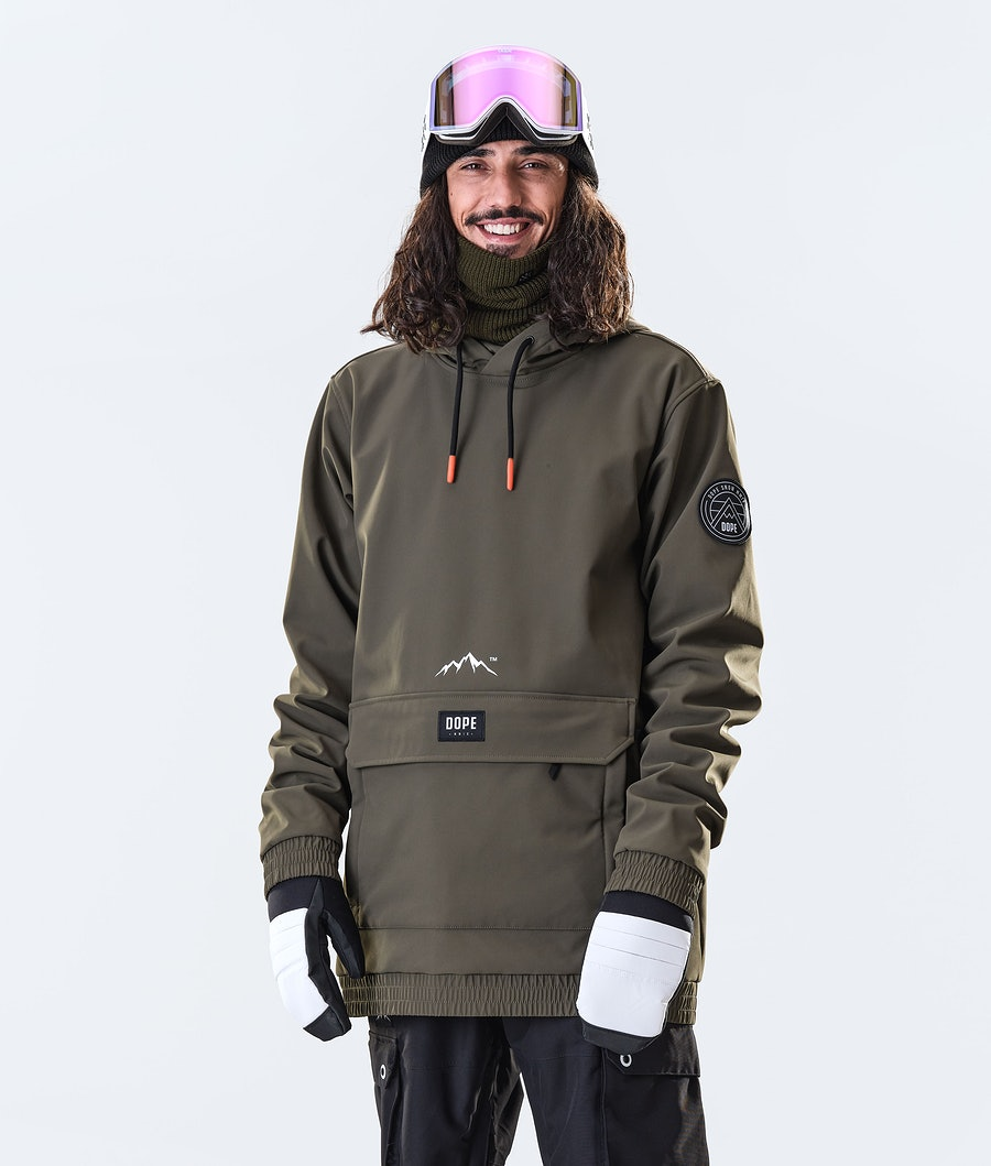 Dope Wylie Patch Snowboard Jacket Olive Green