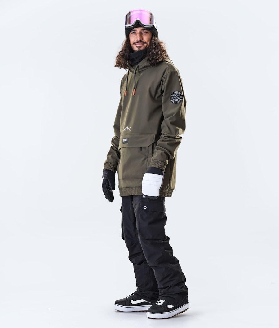 Dope Wylie Patch Snowboard Jacket Olive Green