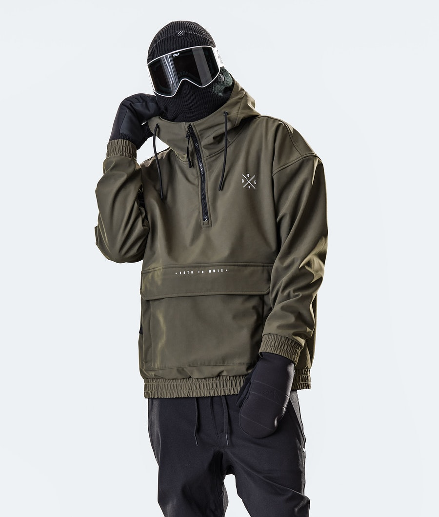 Dope Cyclone Snowboard jas Olive Green