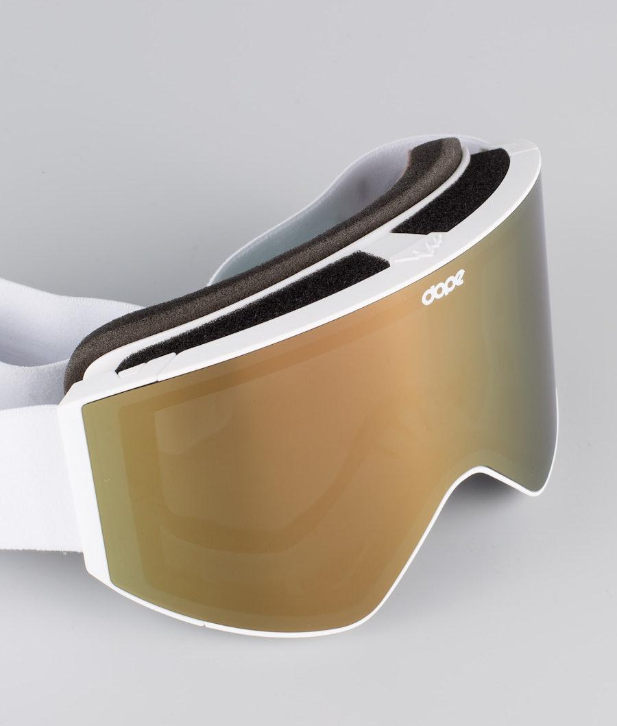 Dope Sight Medium Masque de ski White W/White Champagne