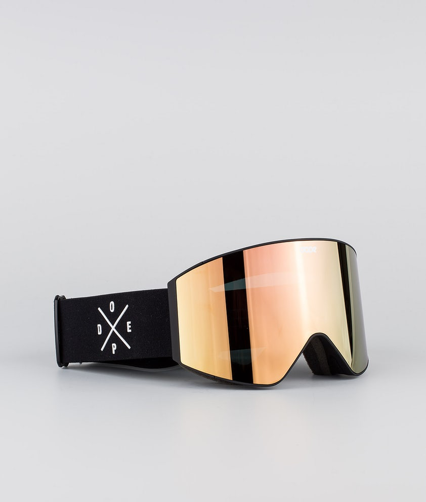 Dope Sight Medium Ski Goggle Black W/Black Champagne