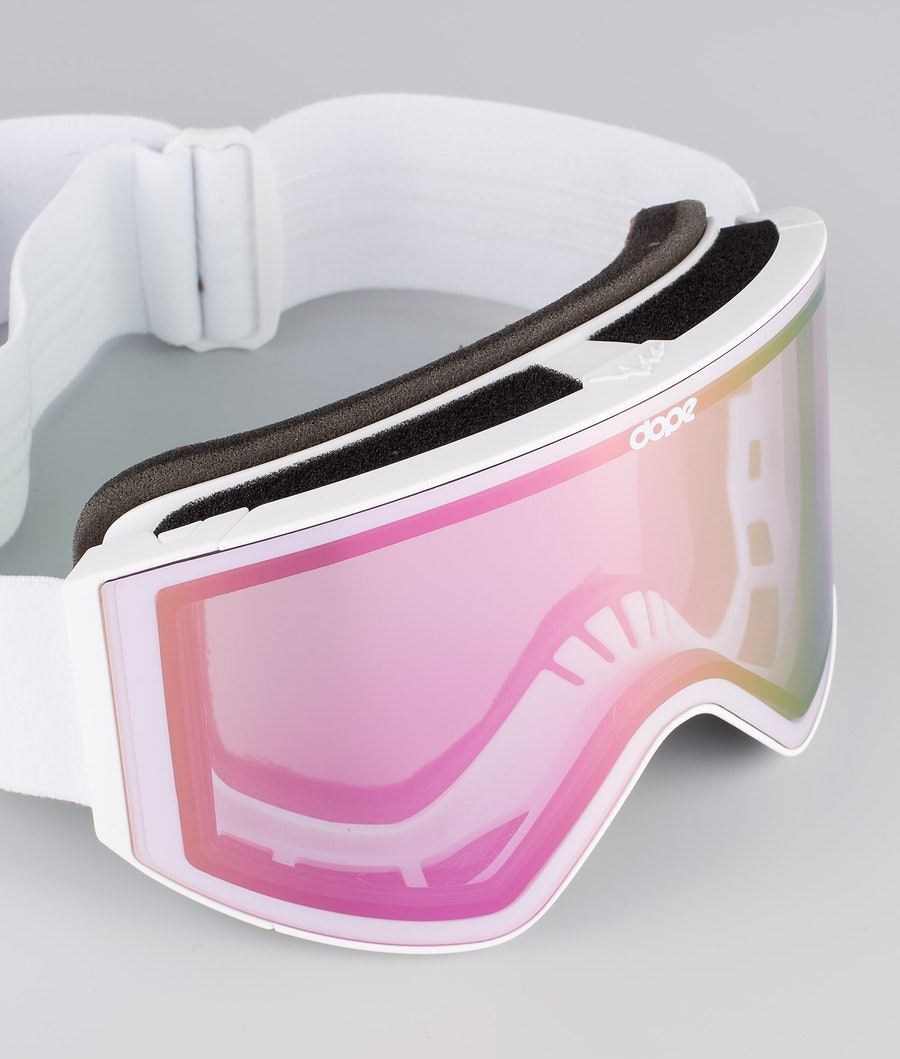 Dope Sight Medium Skidglasögon White W/White Pink Mirror