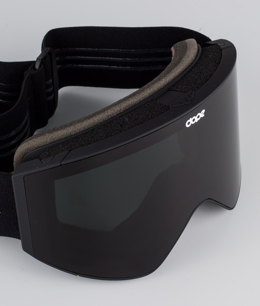 Dope Sight Medium Ski Goggle Black W/Black Black