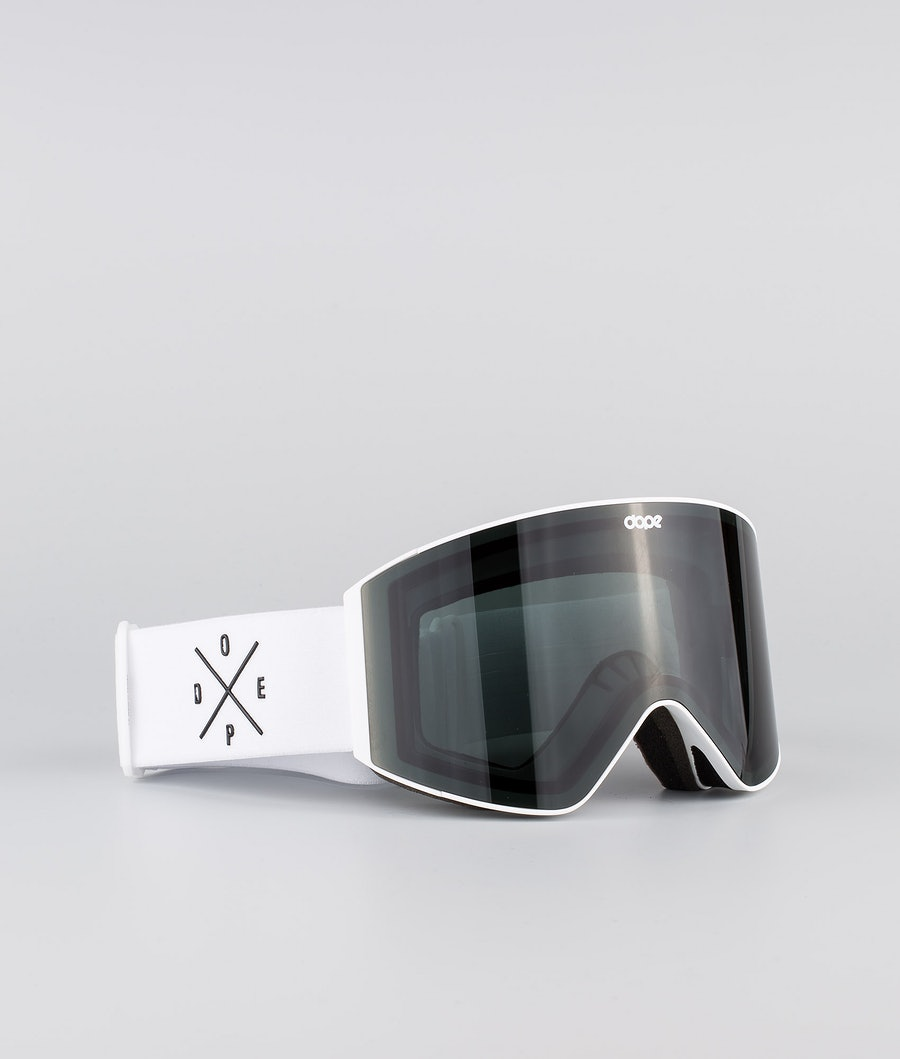 Dope Sight Medium Ski Goggle White W/White Black