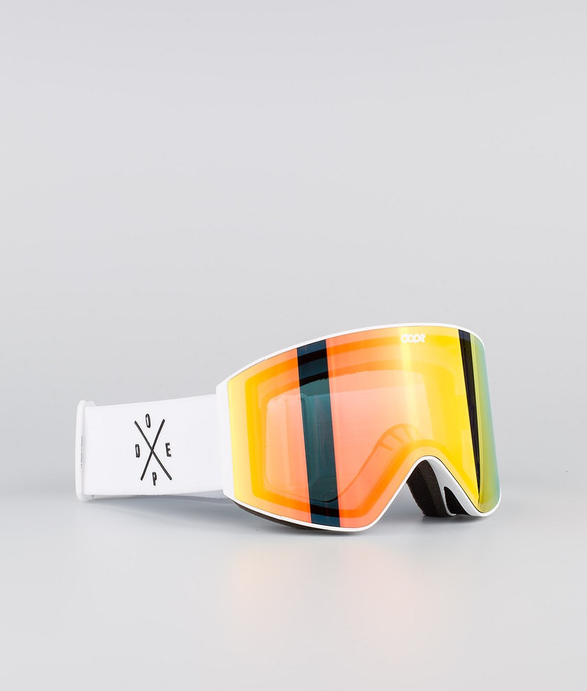 Dope Sight Medium Masque de ski White W/White Red Mirror