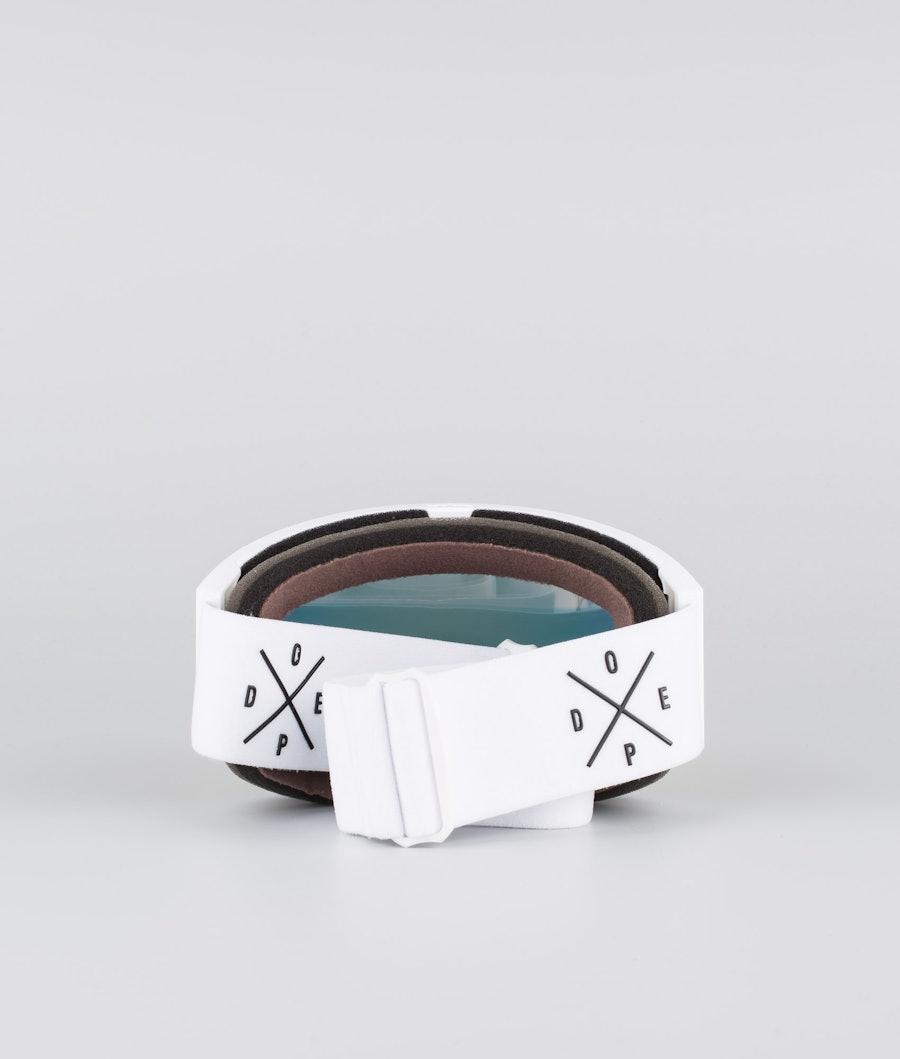 Dope Sight Medium Masque de ski White W/White Red Mirror