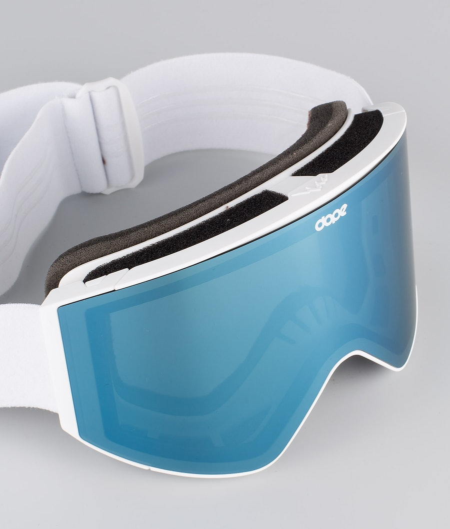 Dope Sight Medium Masque de ski White W/White Blue Mirror