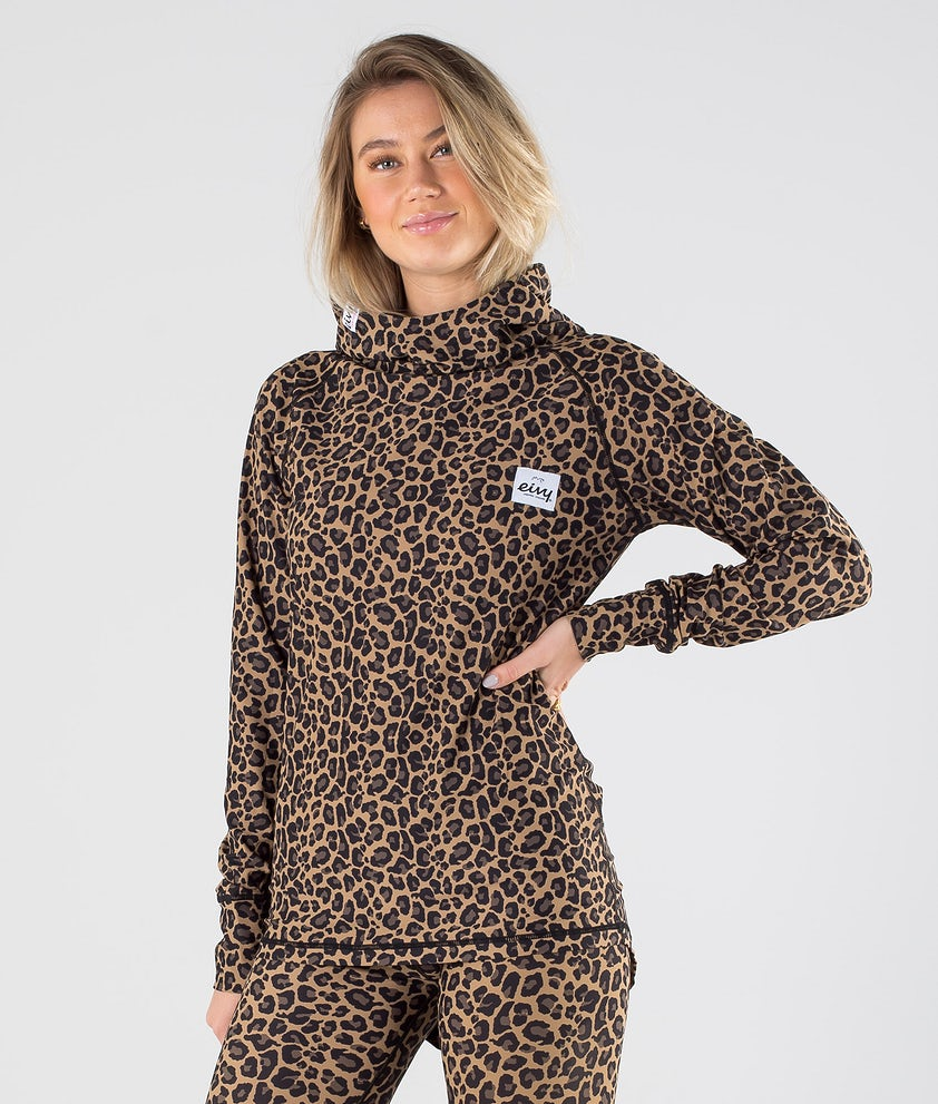 Eivy Icecold Hood Top Base Layer Top Leopard