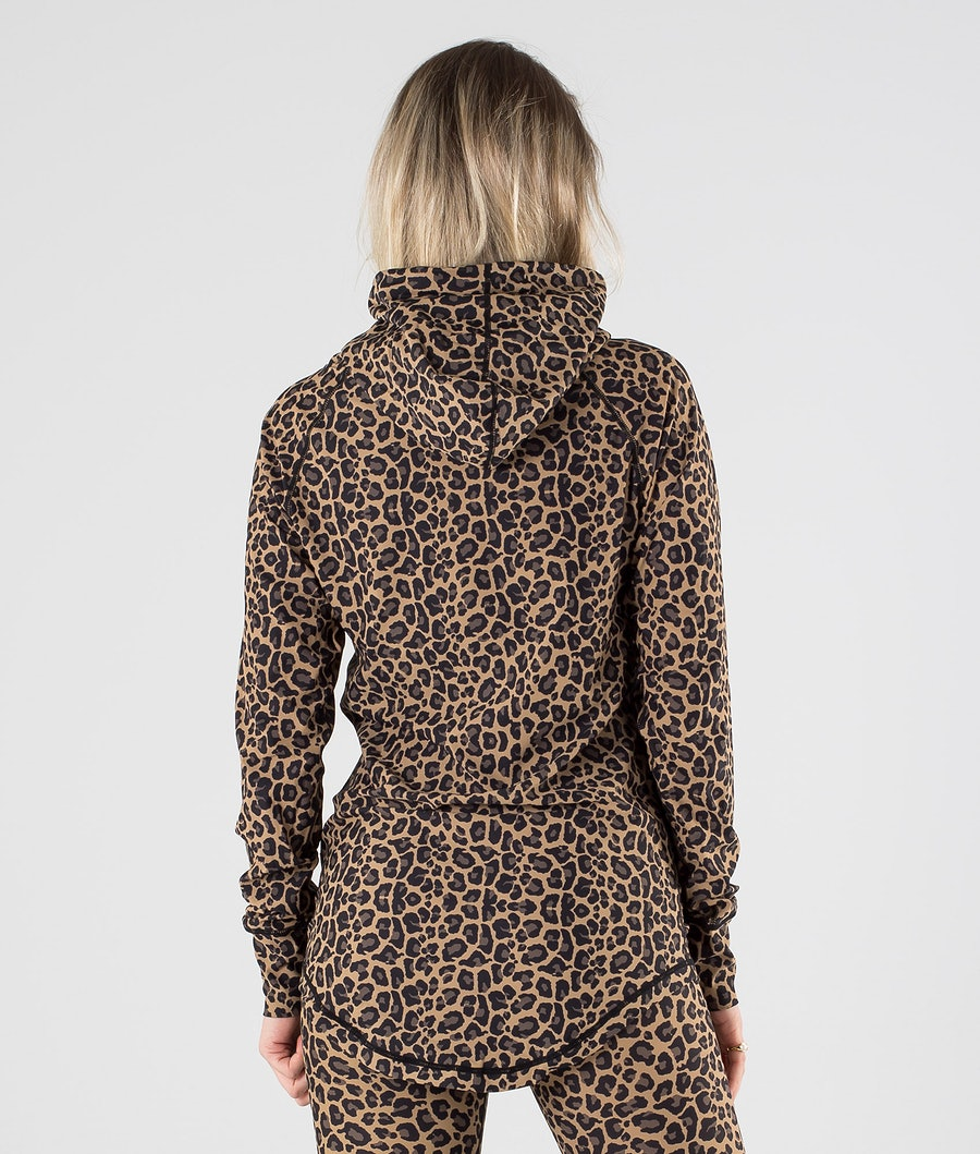 Eivy Icecold Hood Top Underställströja Dam Leopard