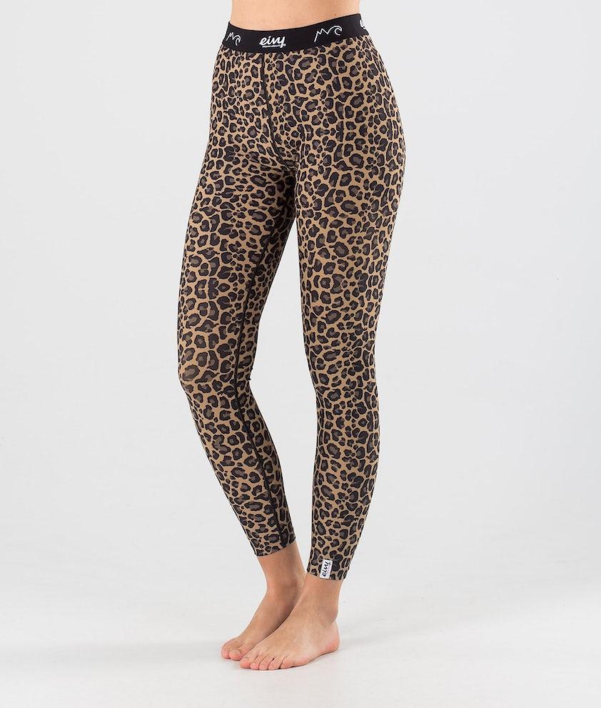 Eivy Icecold Tights Underställsbyxa Leopard