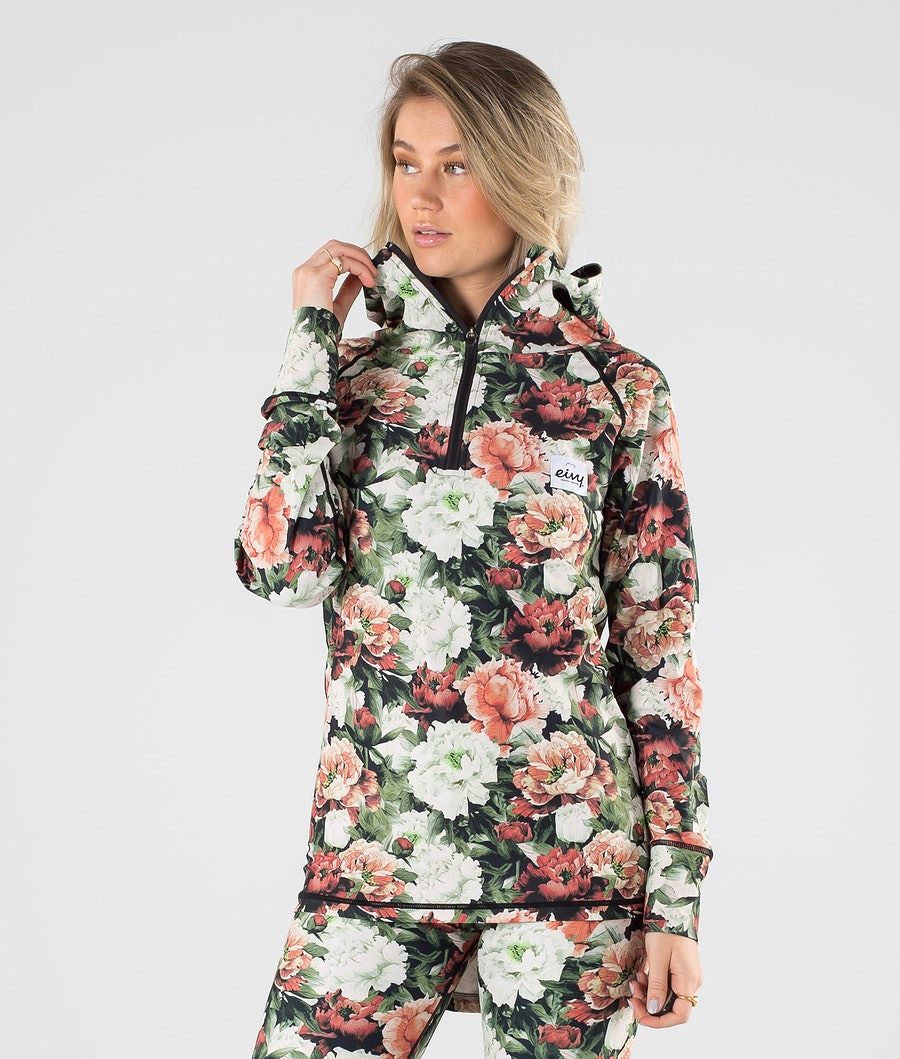 Eivy Icecold Zip Hood Top Kerrastopaita Autumn Bloom