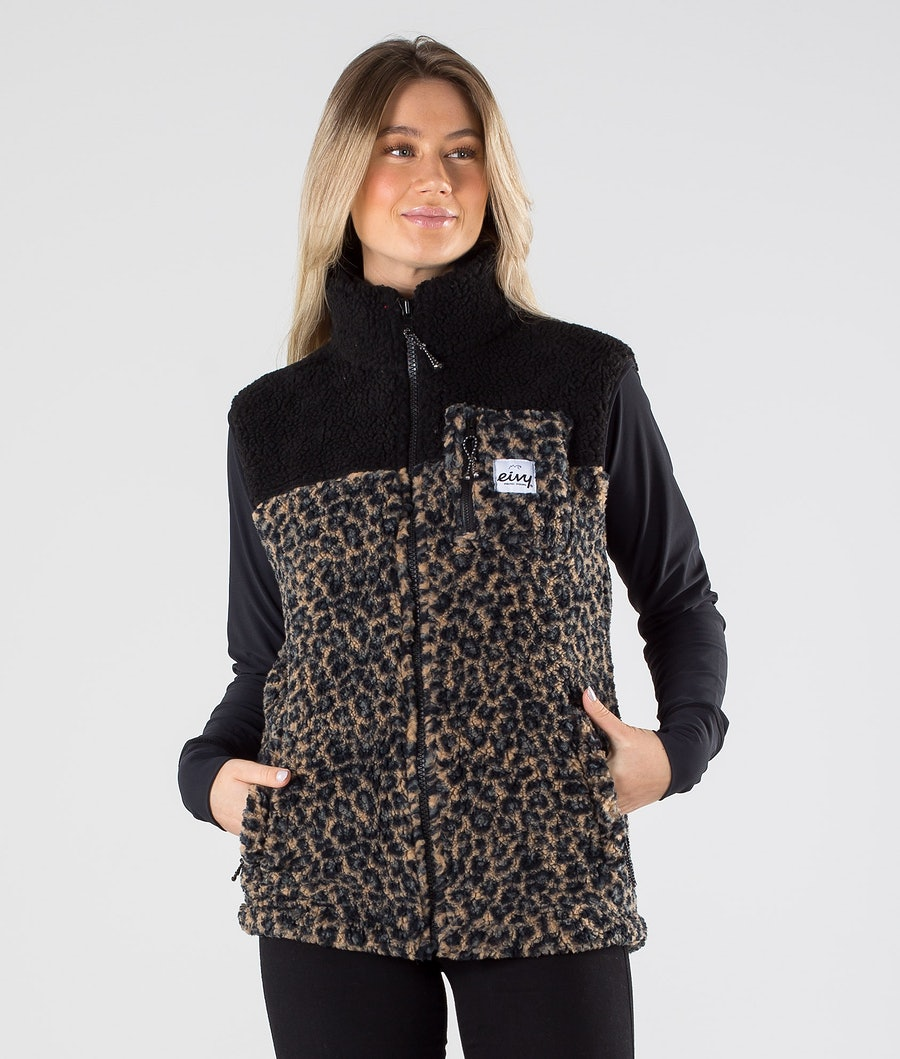 Eivy Lumberjackie Sherpa Vest Leopard