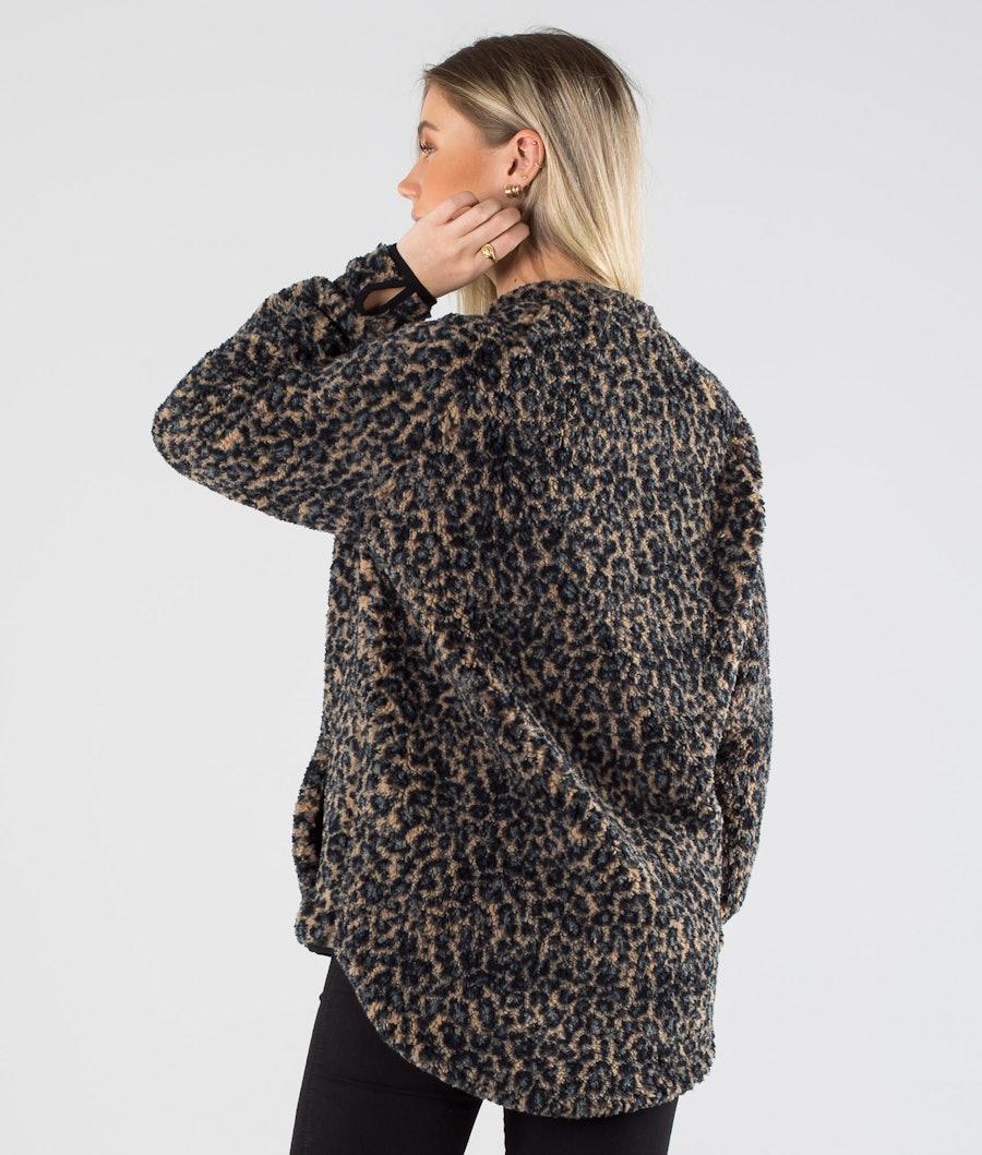 Eivy Redwood Sherpa Jakke Dame Leopard