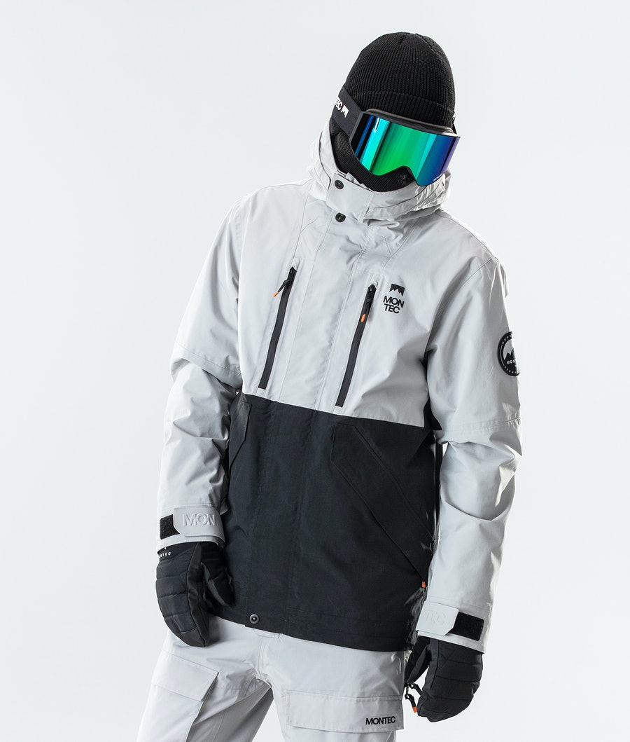 Montec Roc Snowboard Jacket Light Grey/Black