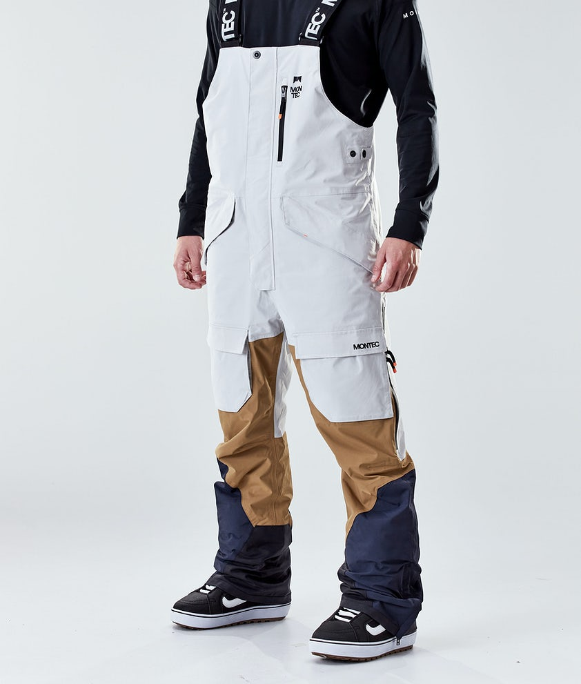 Montec Fawk Snowboardbukse Light Grey/Gold/Marine