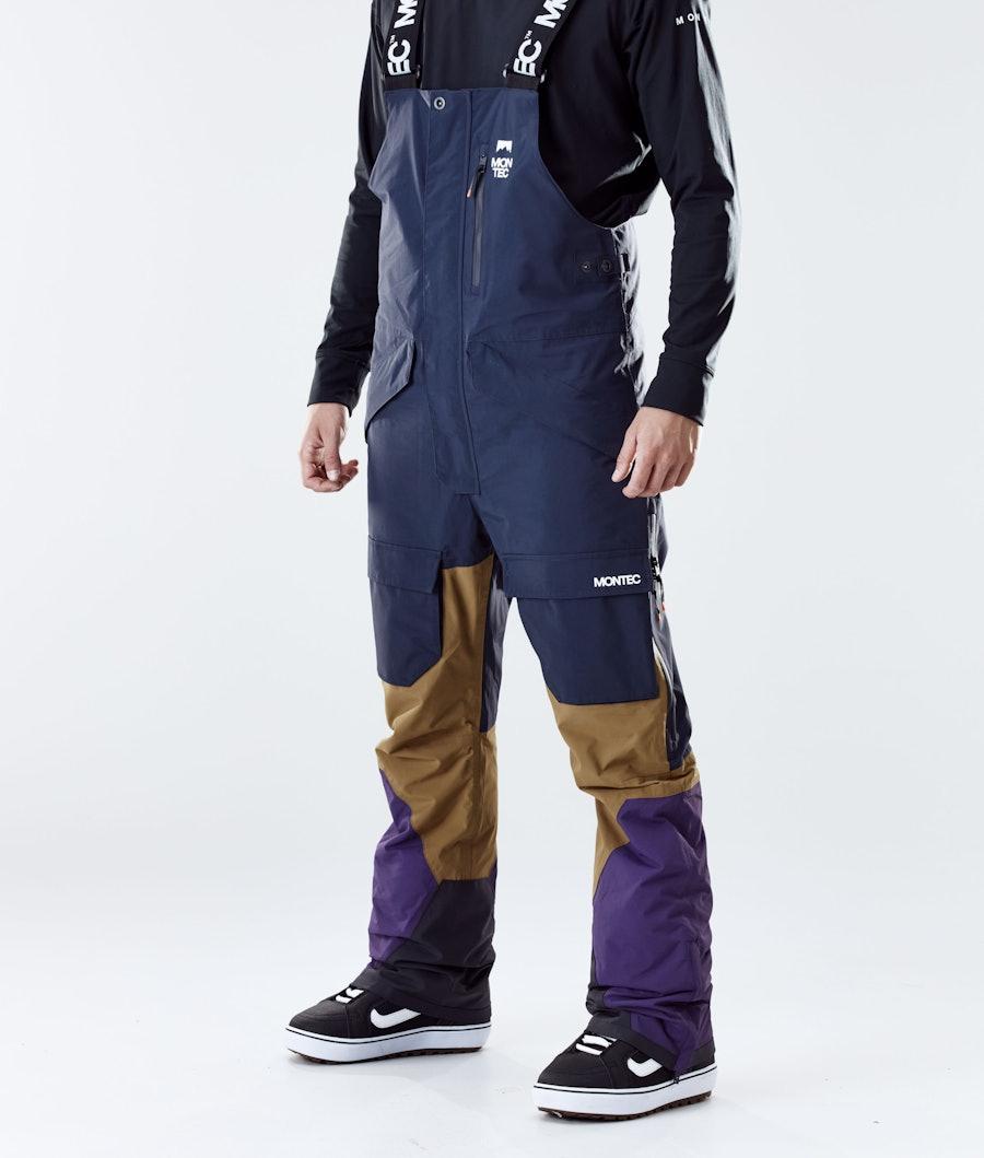 Montec Fawk Pantalon de Snowboard Marine/Gold/Purple