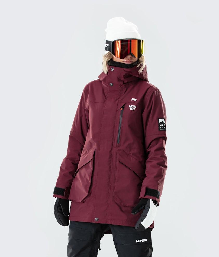 Montec Virago W Snowboardjakke Burgundy