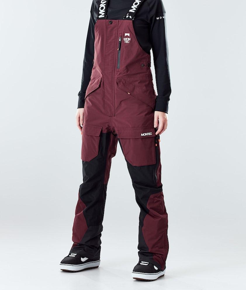 Montec Fawk W Snowboard Pants Burgundy/Black
