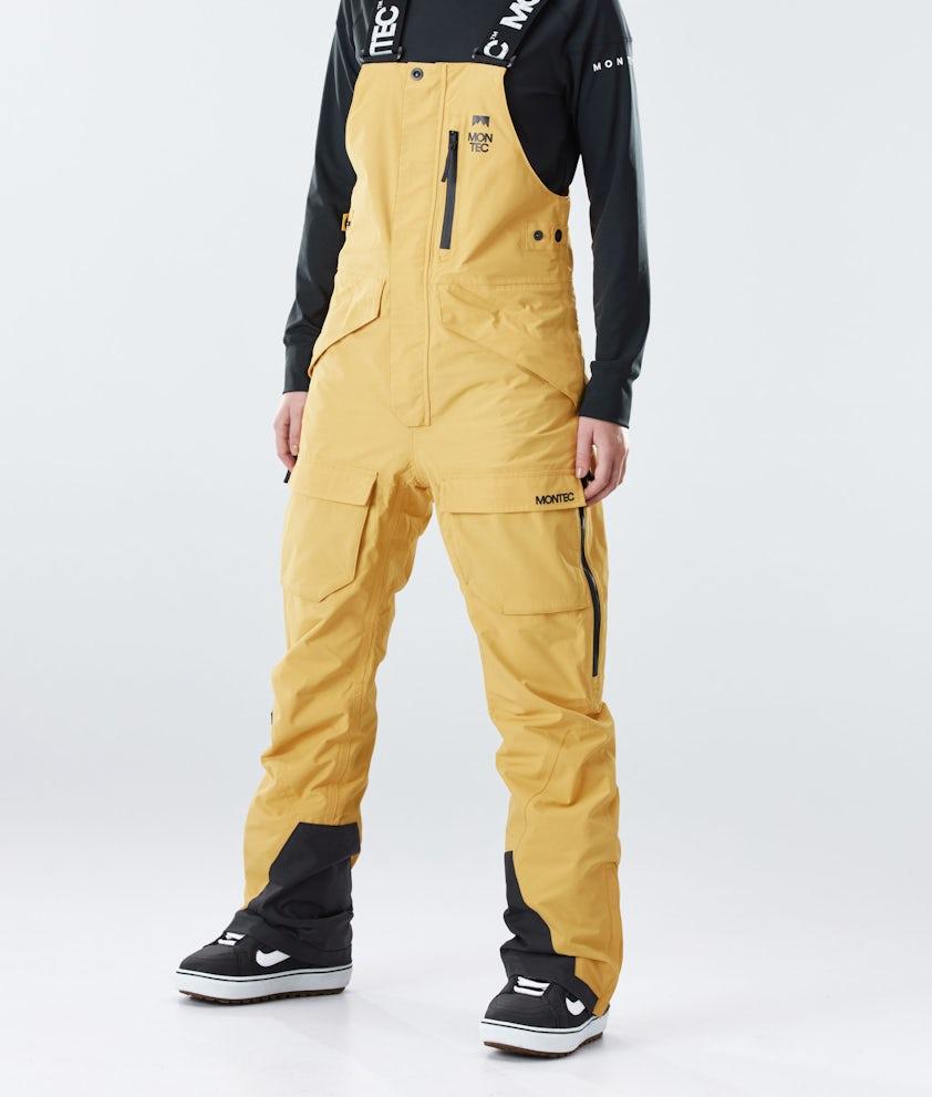 Montec Fawk W Snowboard Pants Yellow