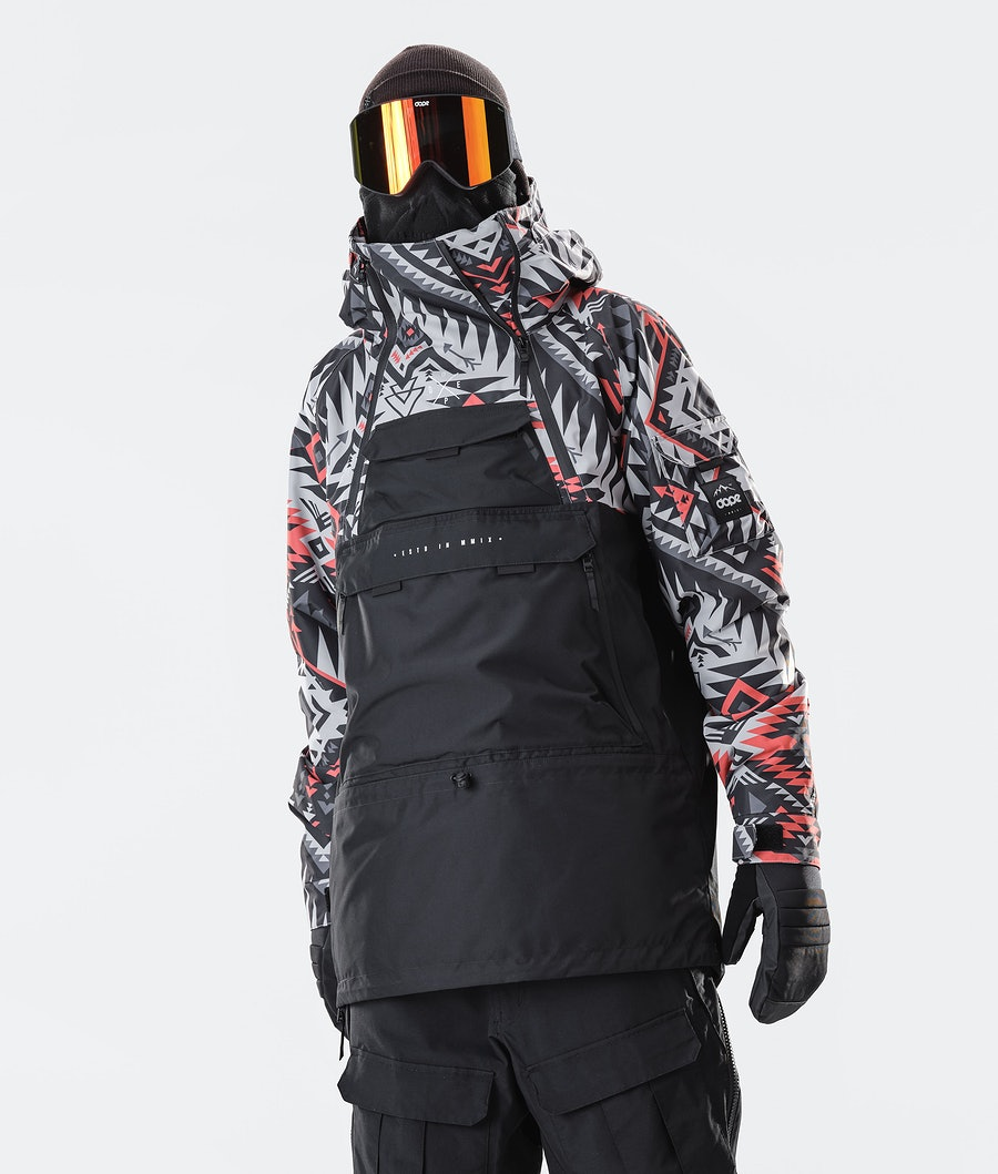 Dope Akin Snowboard Jacket Arrow Red/Black