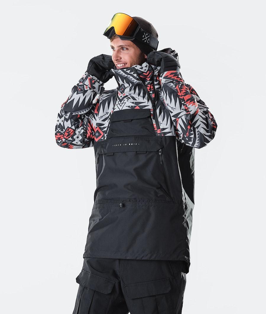 Dope Akin Giacca da Snowboard Arrow Red/Black