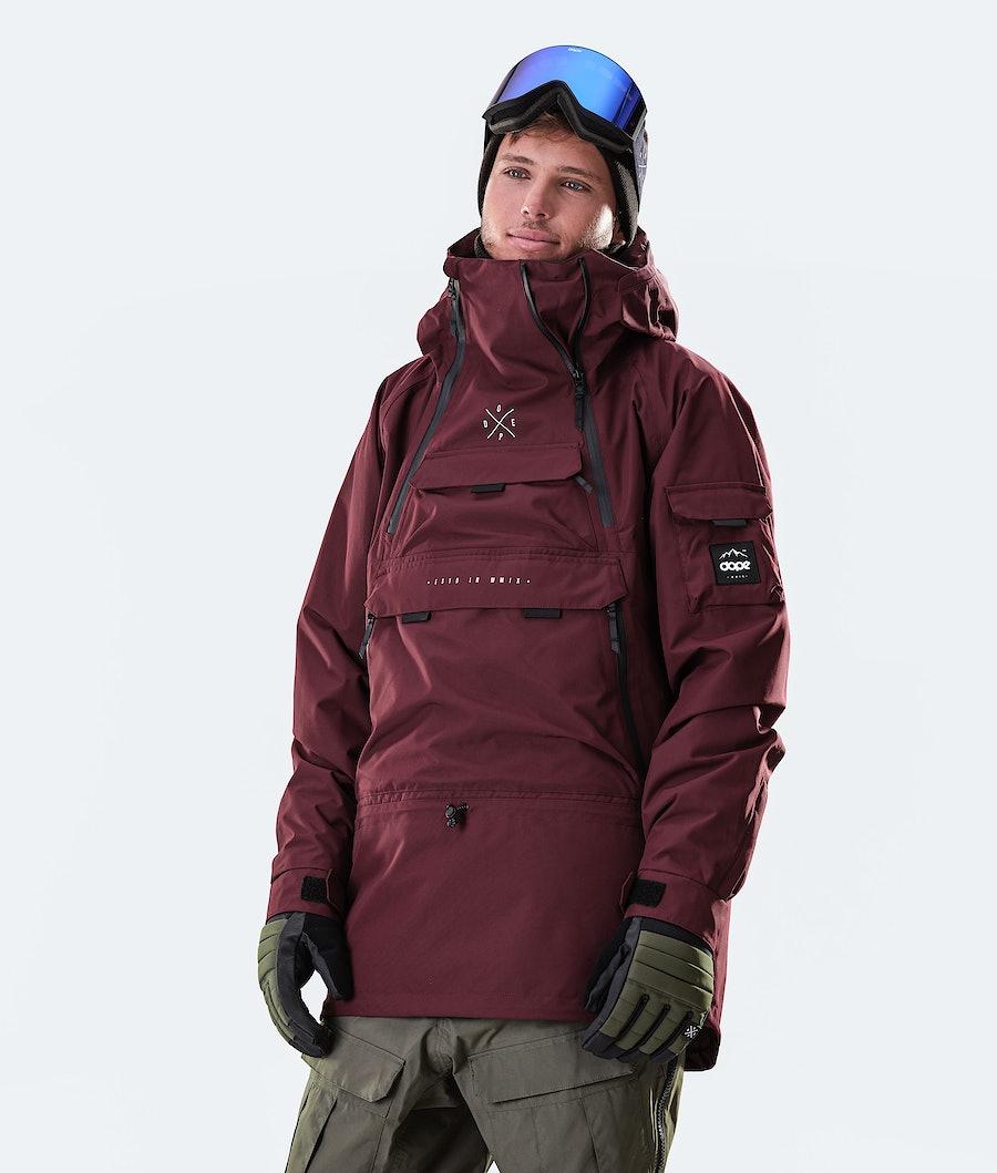 Dope Akin Ski Jacket Burgundy