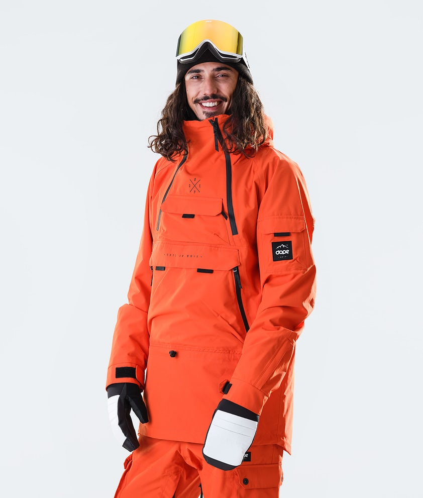 Dope Akin Snowboard Jacket Orange
