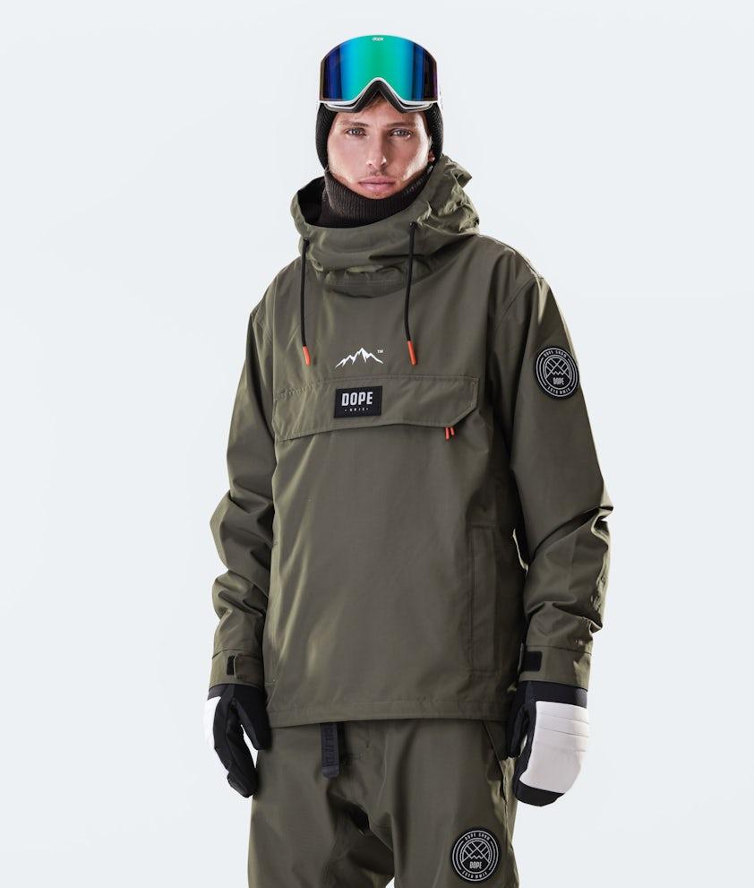 Dope Blizzard PO Snowboardjacka Olive Green