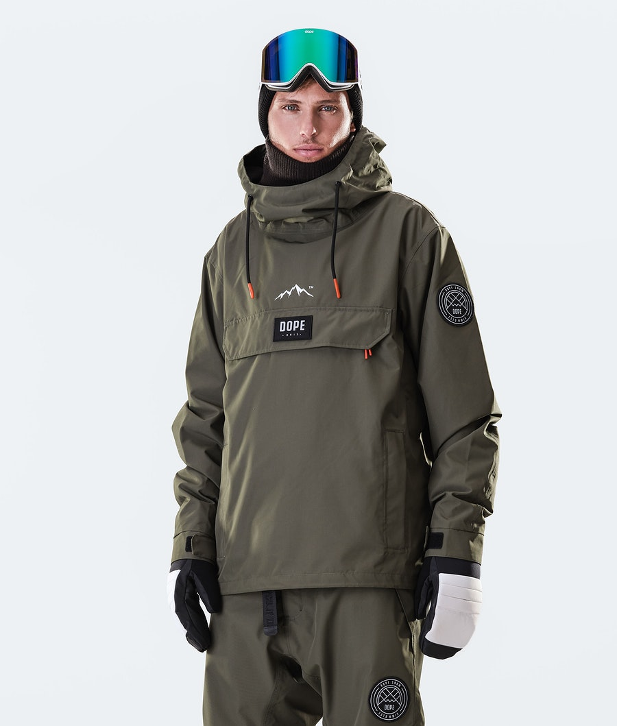 Dope Blizzard PO Snowboard Jacket Olive Green