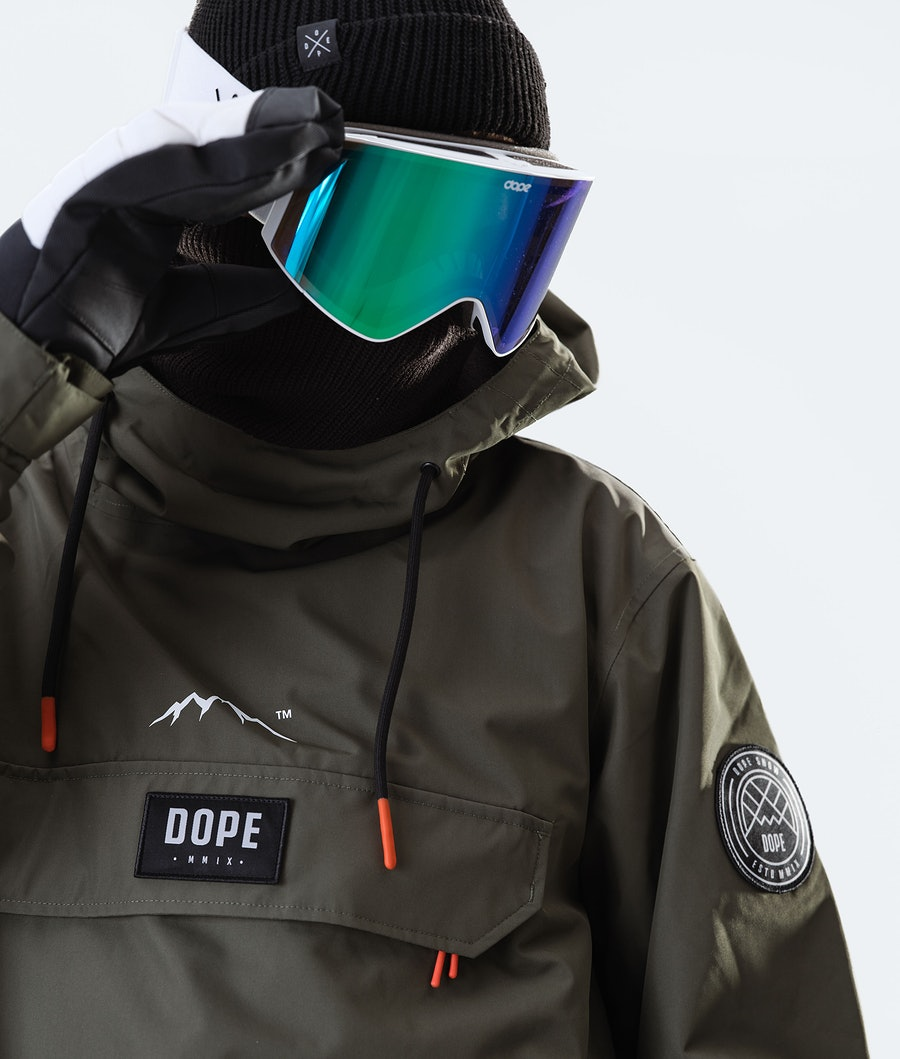 Dope Blizzard PO Veste de Ski Olive Green