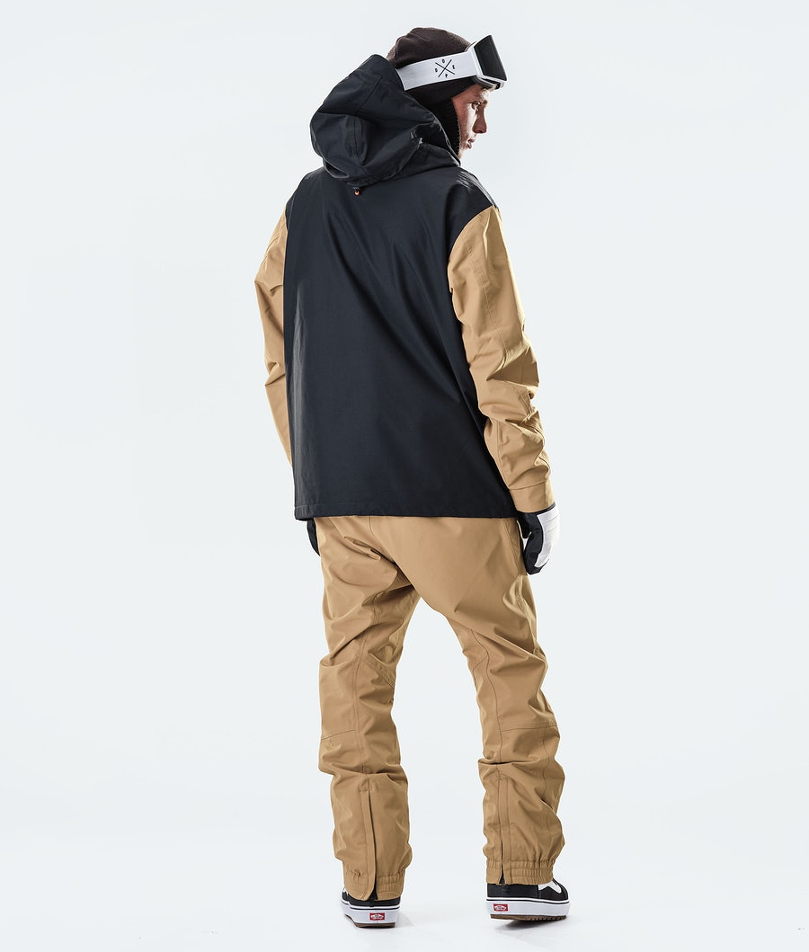 Dope Blizzard PO Snowboard Jacket Gold/Black
