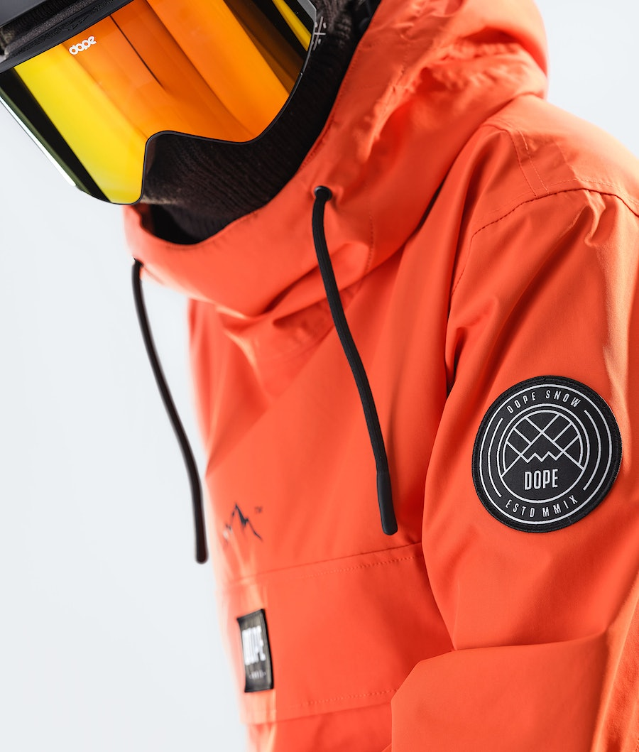 Dope Blizzard PO Snowboard Jacket Orange