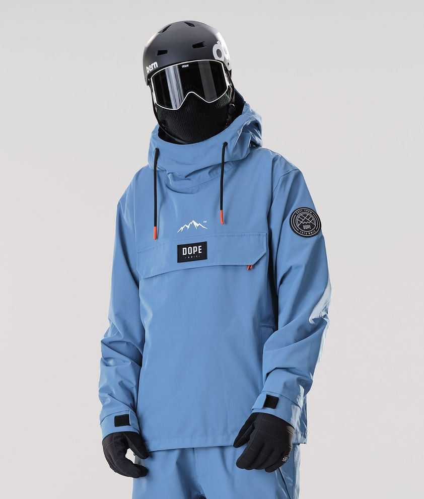 Dope Blizzard PO Snowboard Jacket Blue Steel