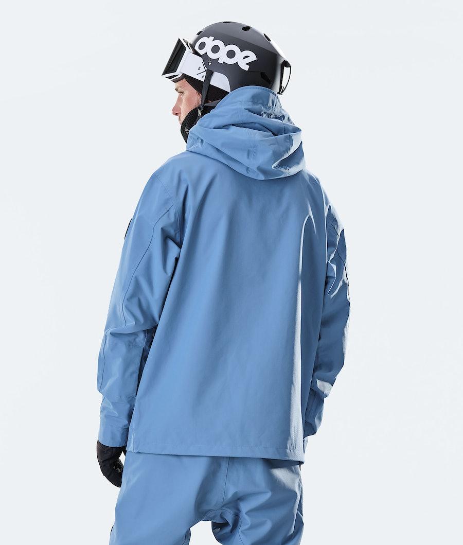 Dope Blizzard PO Snowboard Jacket Blue Steel