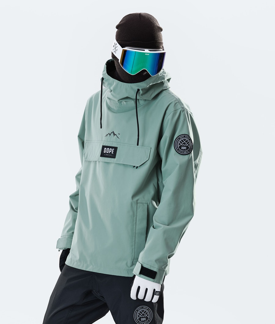 Dope Blizzard PO Snowboard Jacket Faded Green