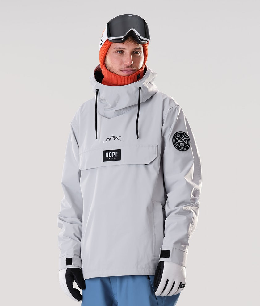 Dope Blizzard PO Snowboard Jacket Light Grey