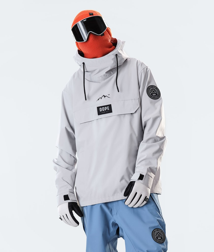 Dope Blizzard PO Snowboardjakke Light Grey