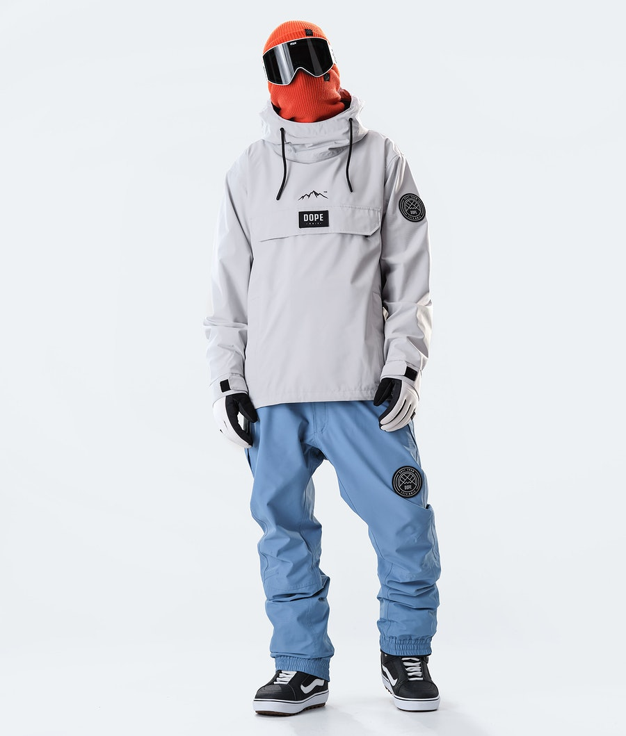 Dope Blizzard PO Snowboard Jacket Light Grey
