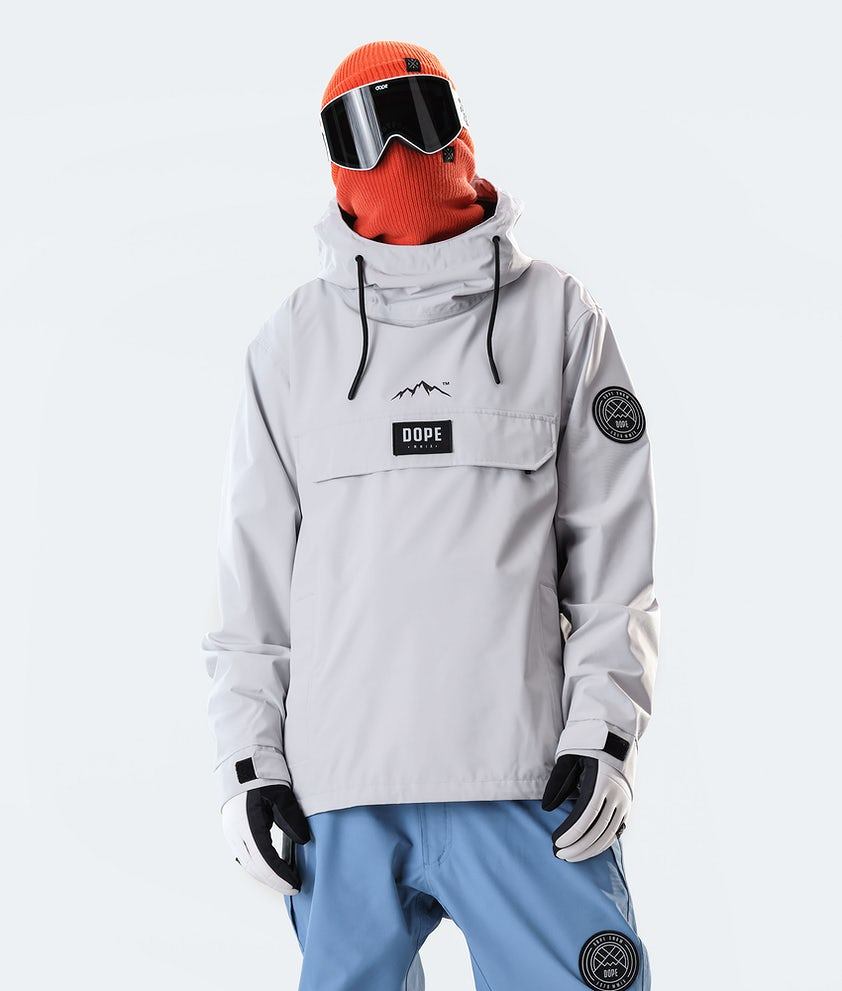 Dope Blizzard PO Veste de Ski Light Grey