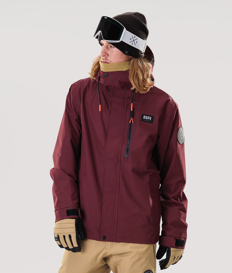 Dope Blizzard FZ Snowboard Jacket Burgundy